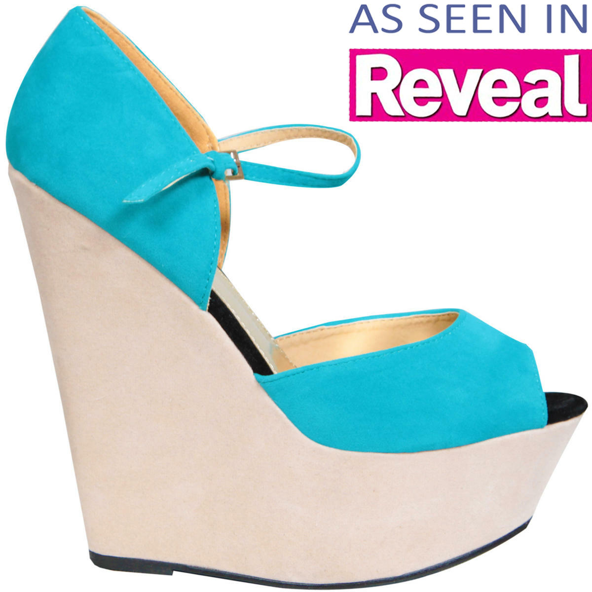 Contrast Colour Block Platform Wedge Preview