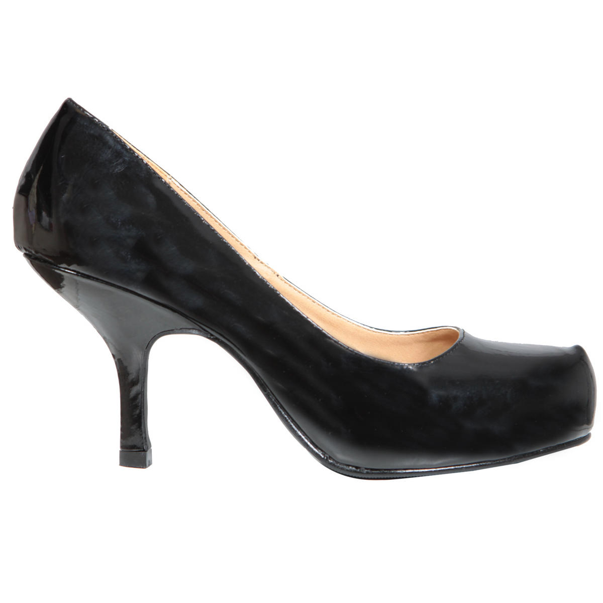 Black Patent Kitten Heel Shoe Preview