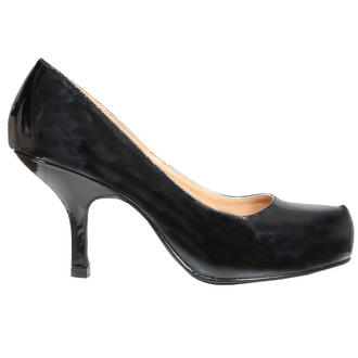 View Item Black Patent Kitten Heel Shoe