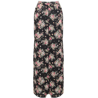 View Item Black High Waisted Floral Palazzo Trouser