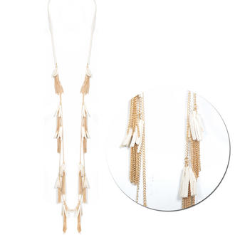 View Item Cream Tassel Necklace