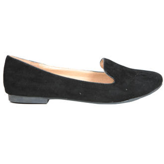View Item Black Flat Slipper Shoe