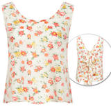 Floral Print Tie Back Vest Top