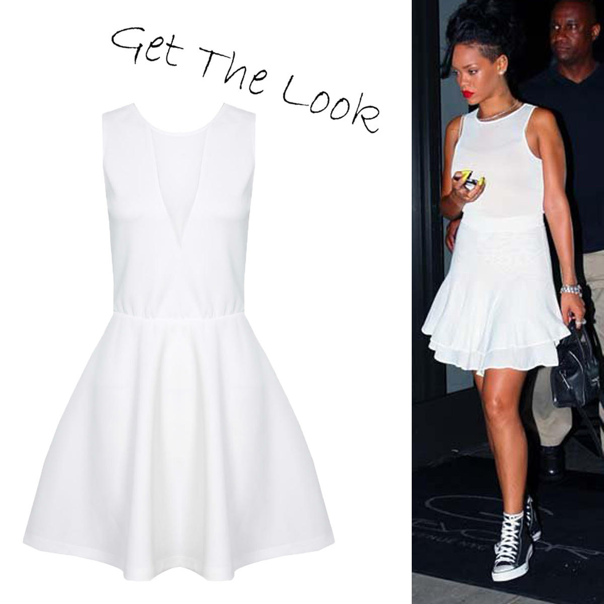 SIZE 12 ONLY White Mesh Cut Out Dress Preview