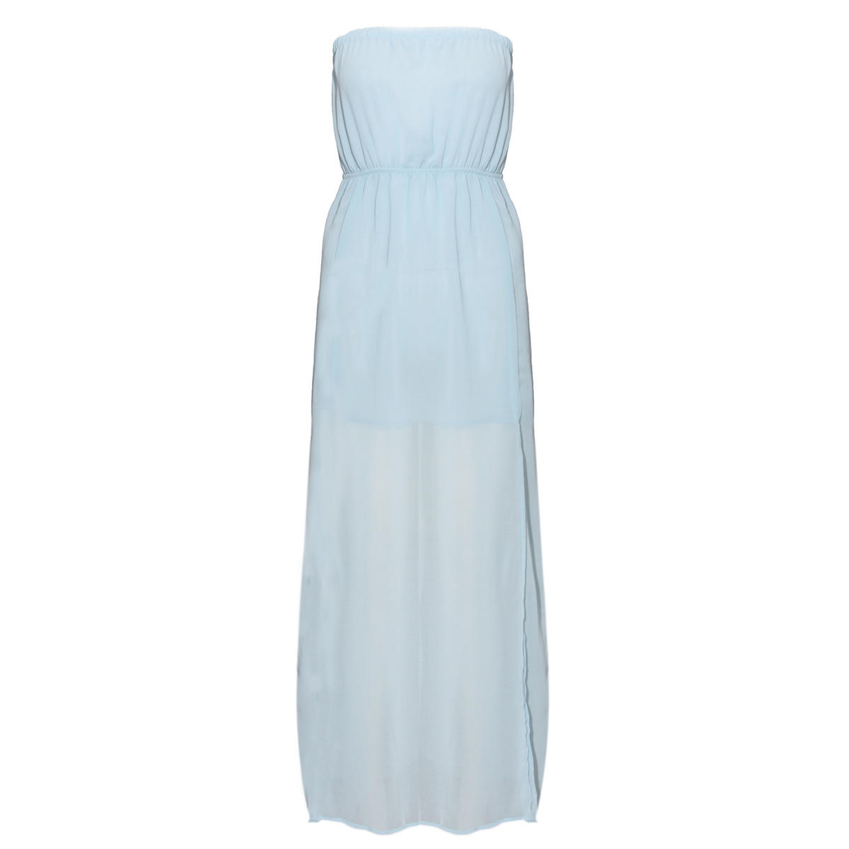 Pastel Blue Bandeau Sheer Maxi Dress Preview
