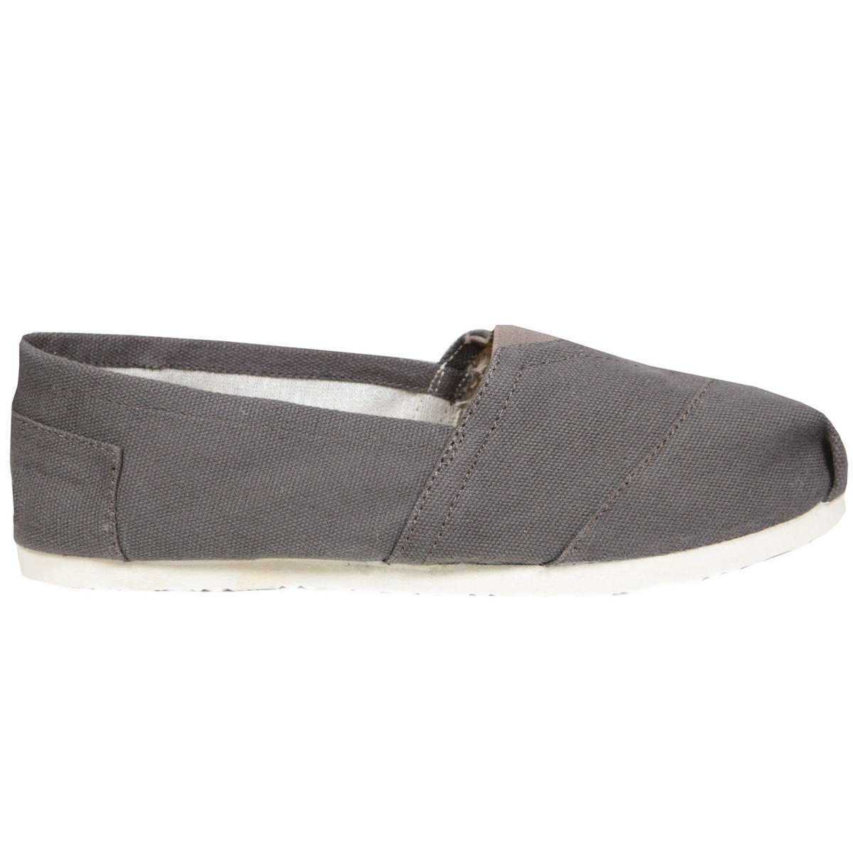 Grey Canvas Flat Shoe Preview