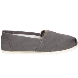 View Item Grey Canvas Flat Shoe
