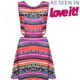 SIZE 10 ONLY Tribal Print Cut Out Dress