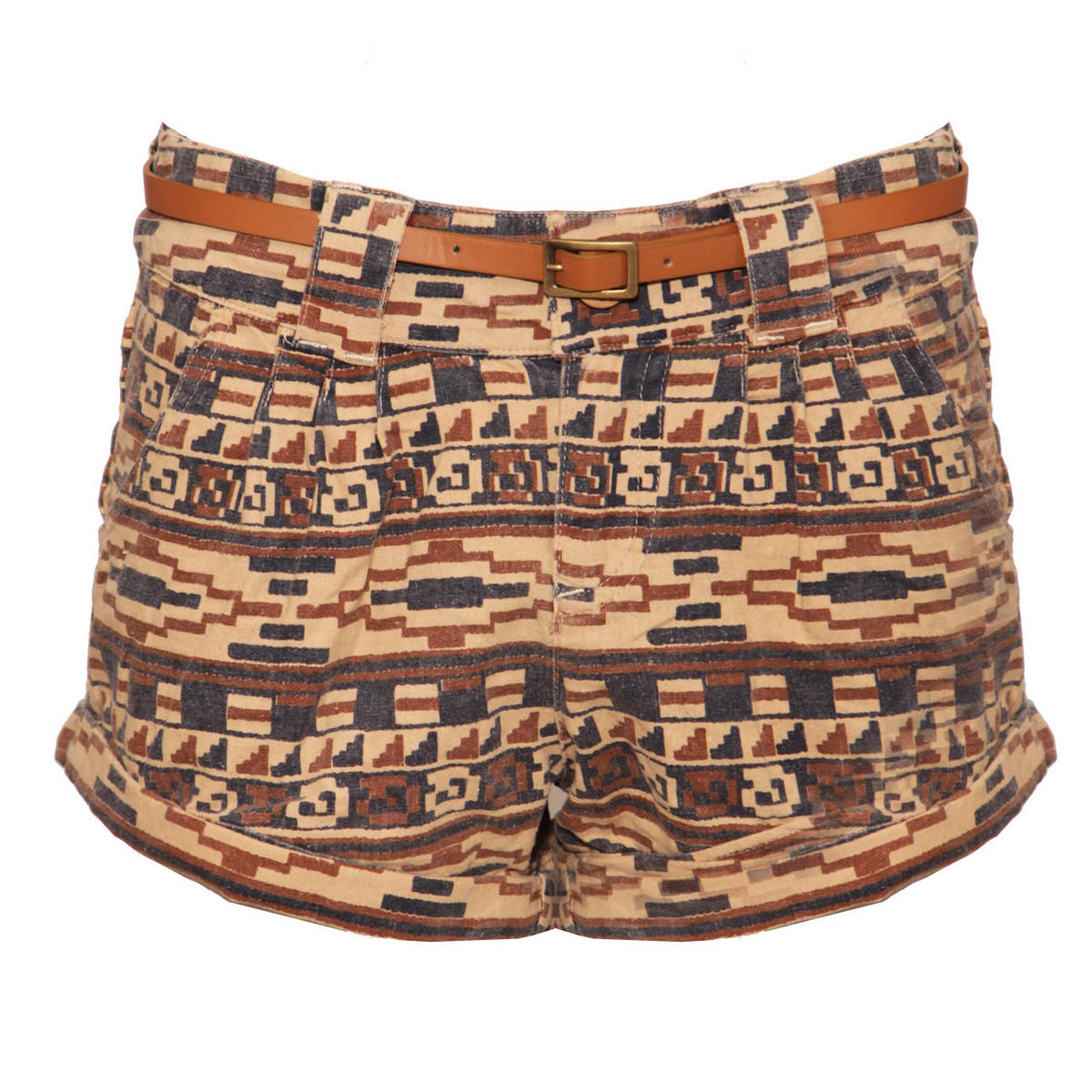Aztec Print Belted Short Preview