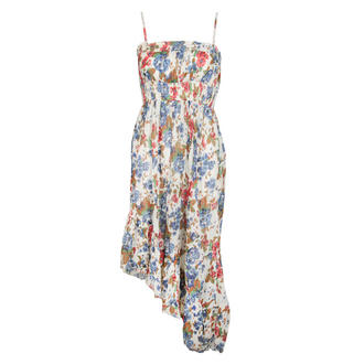View Item Floral Assymetric Hem Dress