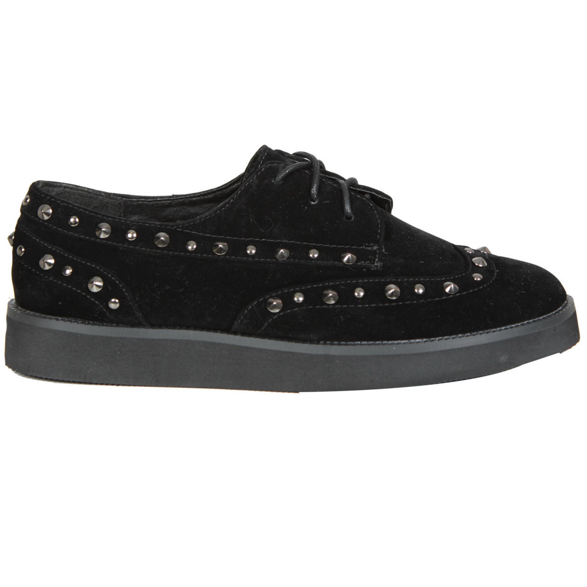 SIZE 3 ONLY Black Studded Creeper Shoe Preview
