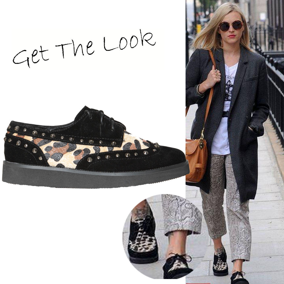 Leopard Print Studded Creeper Shoe Preview