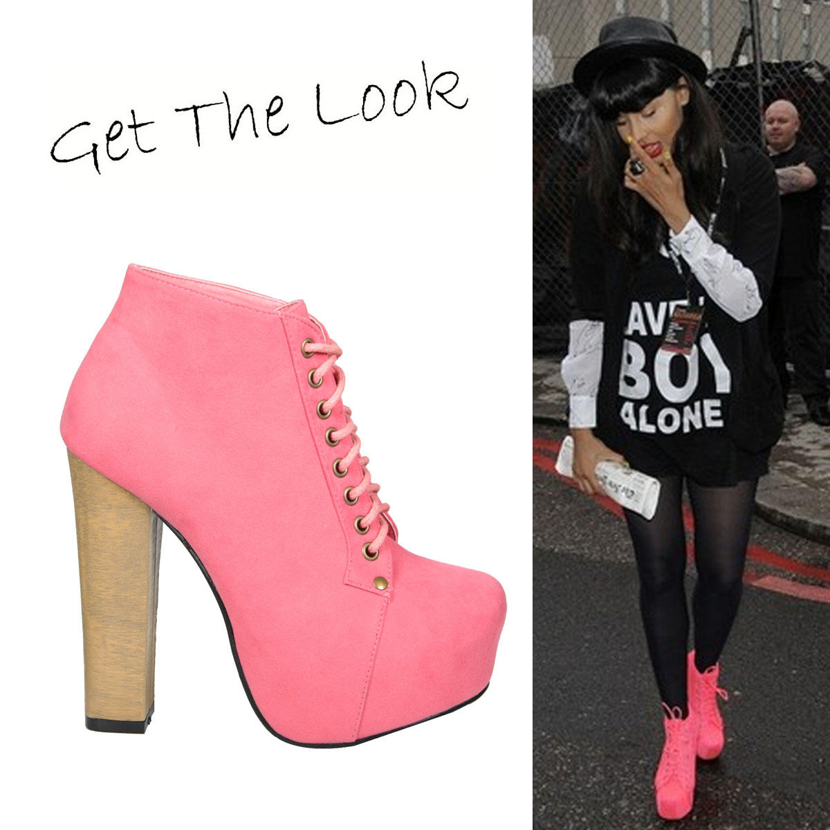 Coral Suede Lace Up Ankle Boot Preview