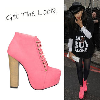 View Item Coral Suede Lace Up Ankle Boot