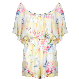 View Item SIZE 10 ONLY Yellow Floral Playsuit