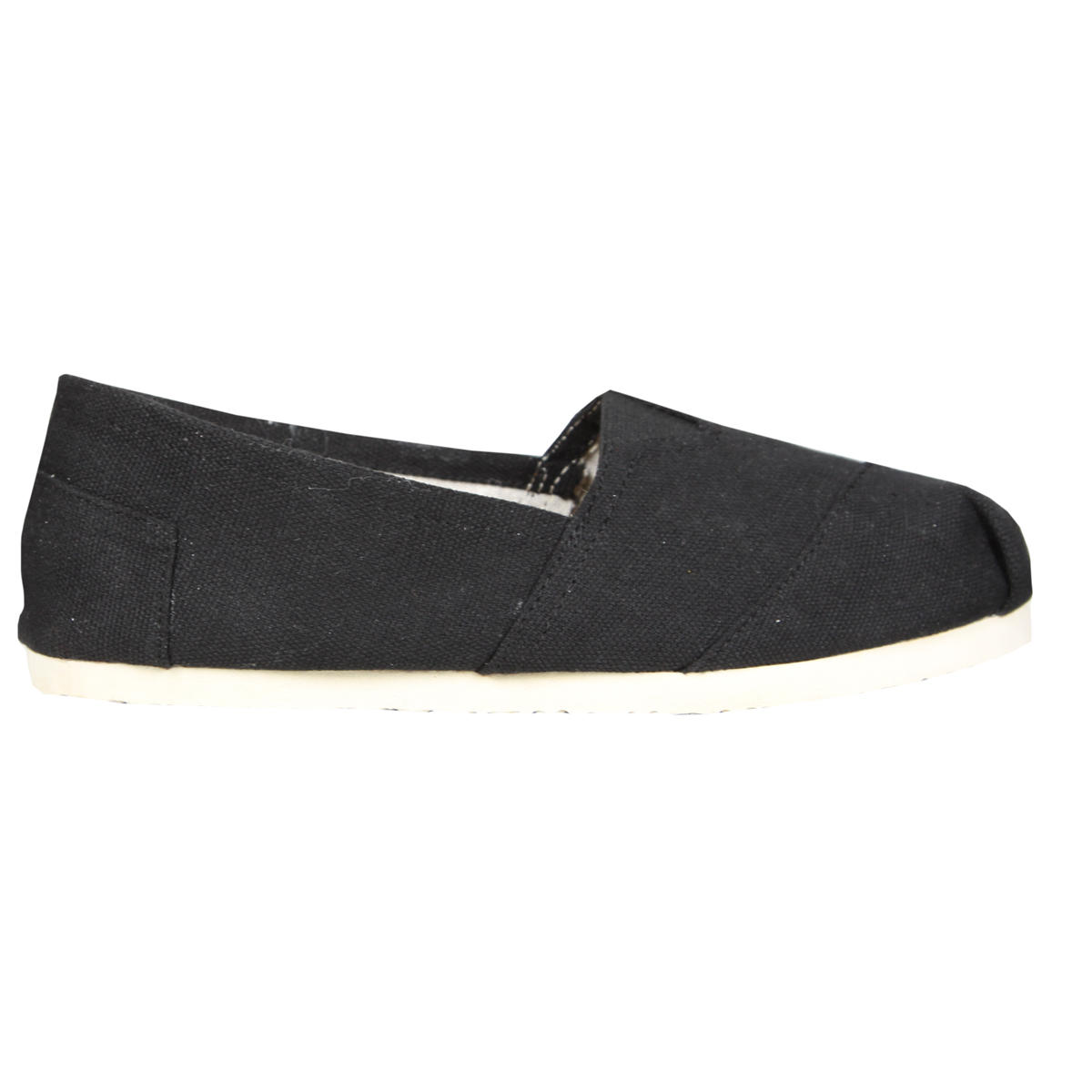 Black Canvas Flat Shoe Preview