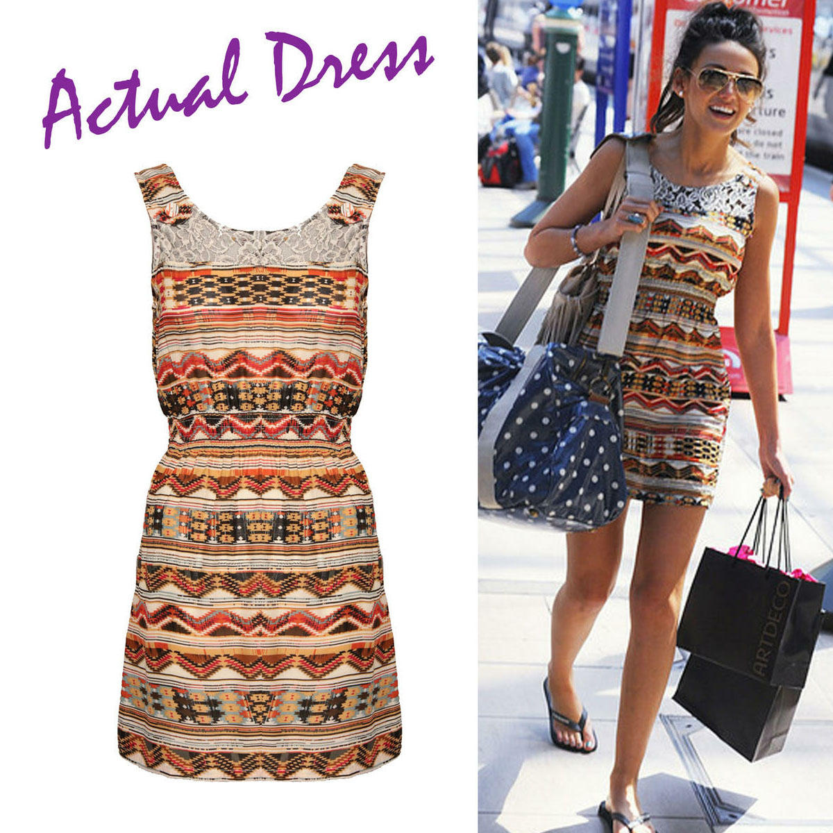 Lace Tribal Print Mini Dress  Preview