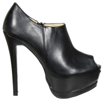 View Item Black Platform Peeptoe Ankle Boot