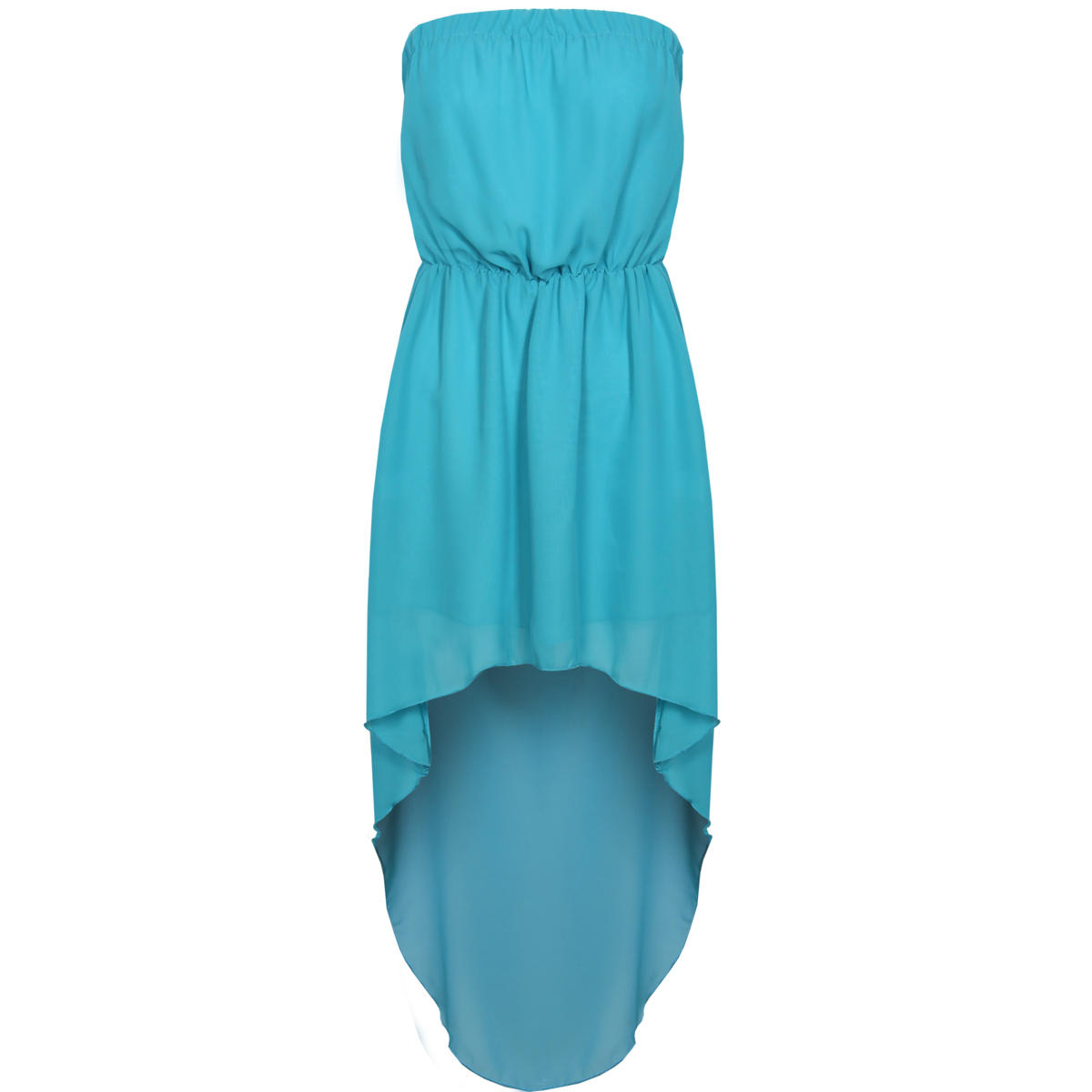 Blue Bandeau Dip Hem Dress Preview