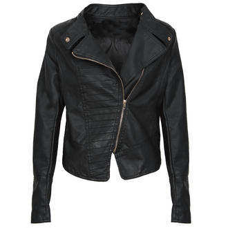 View Item PU Leather Biker Jacket