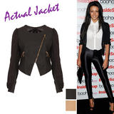 Leatherette Zip Detail Jacket