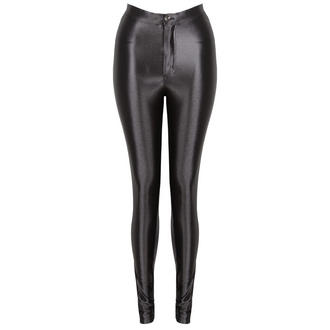 View Item Black High Shine Disco Pants