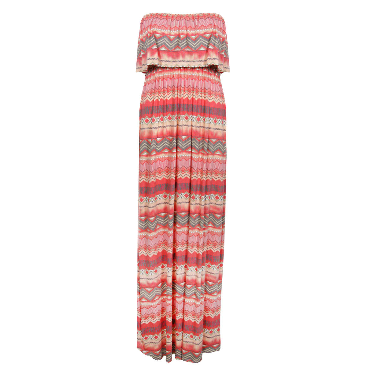 Red Tribal Print Maxi Dress Preview