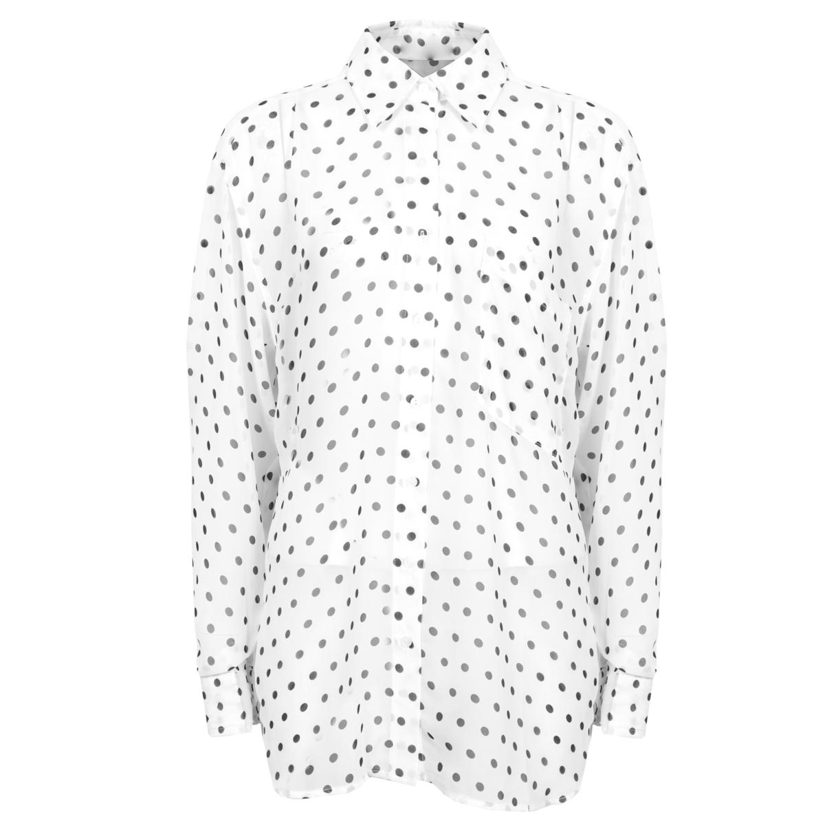 White Polka Dot Shirt Preview