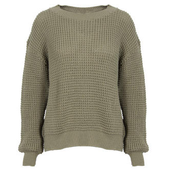 View Item Khaki Knitted Boyfriend Jumper