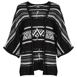 View Item Monochrome Knitted Aztec Cardigan