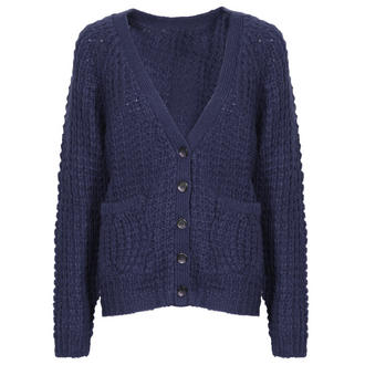 View Item Blue Knitted Boyfriend Cardigan