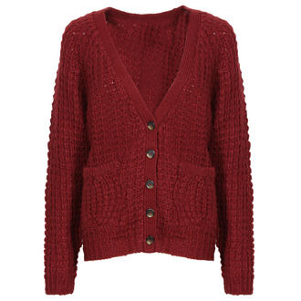 View Item Wine Knitted Boyfriend Cardigan