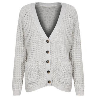 View Item Stone Knitted Boyfriend Cardigan