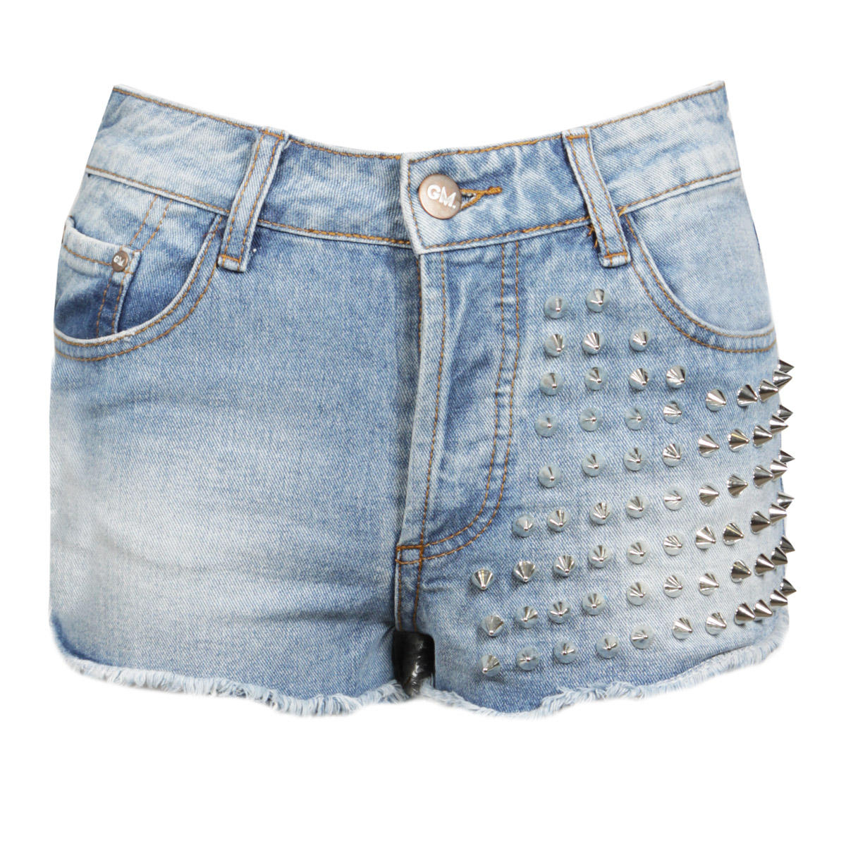 Denim Shorts with Spike Detail Preview