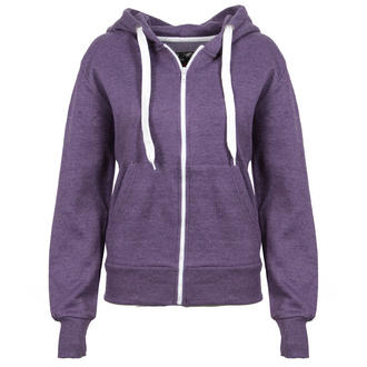 View Item Purple Melange Effect Hoody