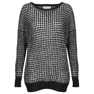 View Item Black and White Knitted Jumper
