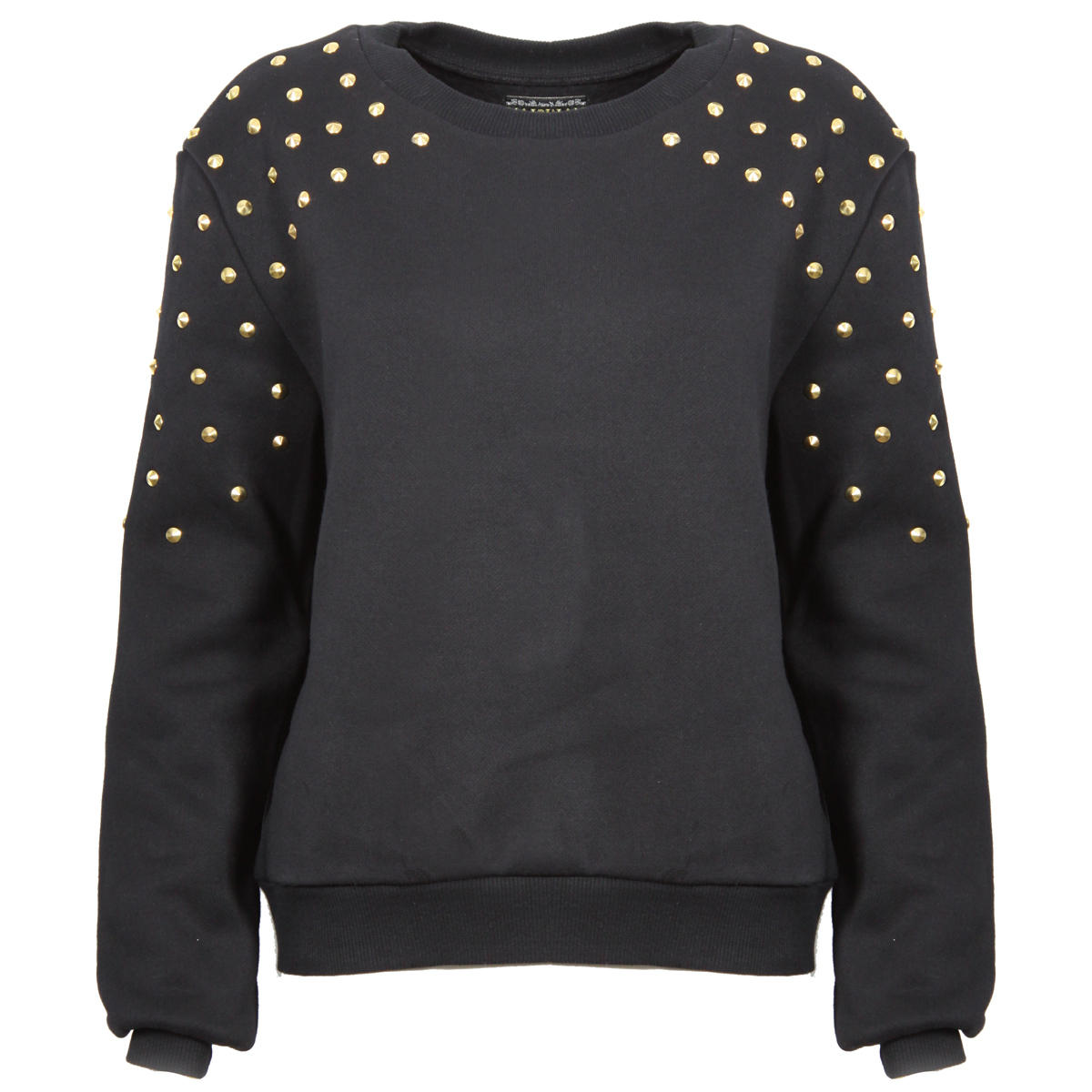 Black Studded Shoulder Sweatshirt Preview