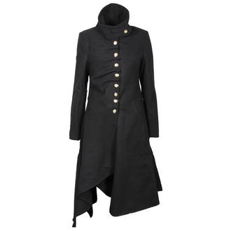 View Item Black Structured Military Wool Coat
