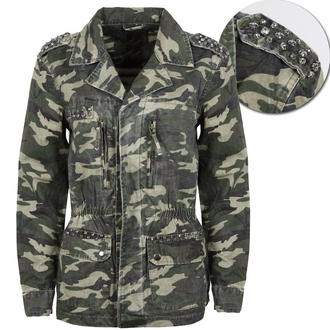View Item Khaki and Black Army Camo Jacket with Jewell Embellishment