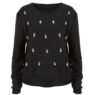 View Item Black Skull Detail Sweatshirt