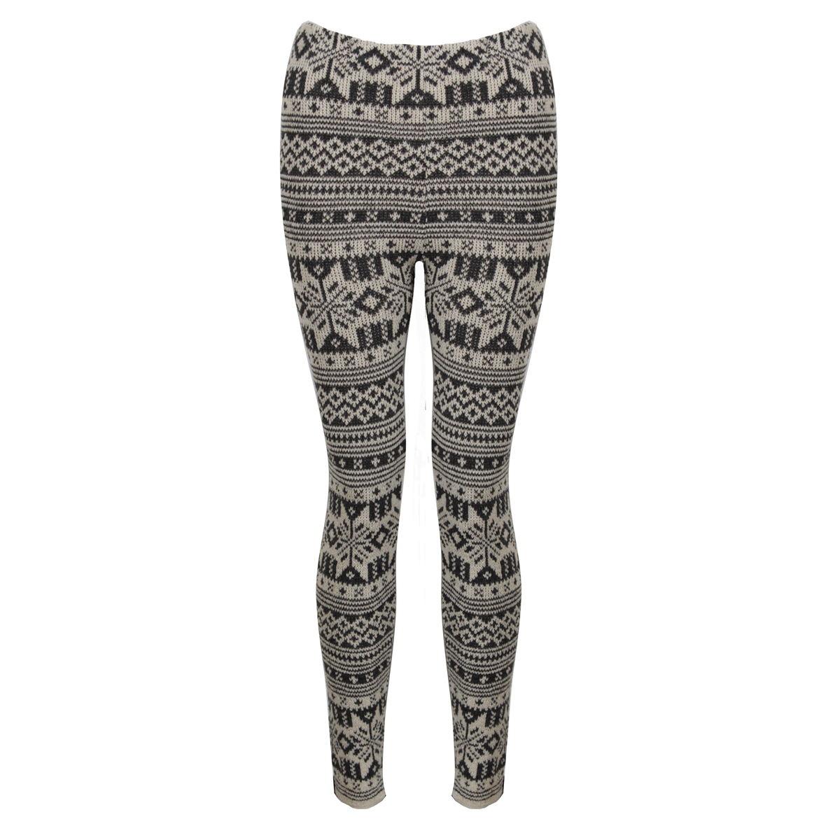 Cream Knitted Aztec Leggings Preview