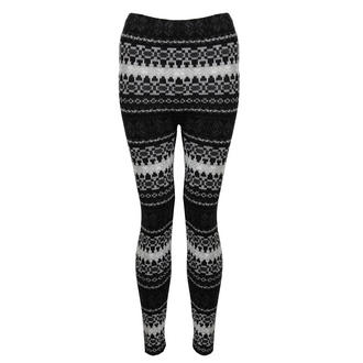 View Item Black and White Knitted Aztec Leggings