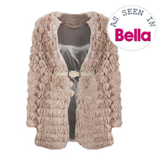 View Item Mocha Belted Tassel Shake Jacket