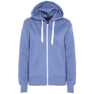 View Item Light Blue Spiked Shoulder Hoody