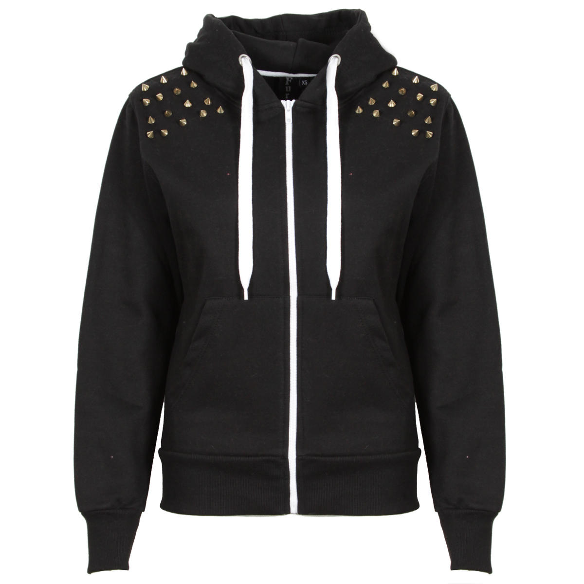 Black Spiked Shoulder Hoody Preview