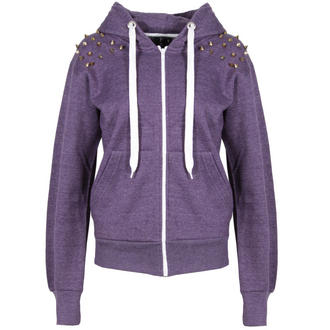 View Item Purple Spiked Shoulder Hoody