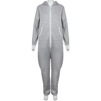 View Item Light Grey Fleece Lined Hooded Onesie