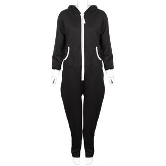 View Item Black Fleece Lined Hooded Onesie