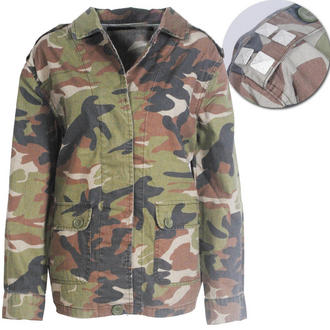 View Item Ligthweigth Camo Jacket with Metal Studded Shoulder Detail