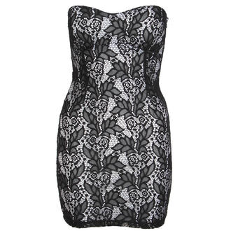View Item Black Floral Lace Bodycon Mini Dress